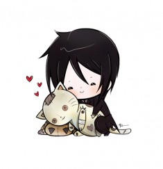 Sebastian loves cats