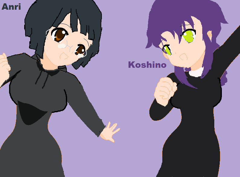 Anri and Koshino! Koshino is my Durarara!! Oc