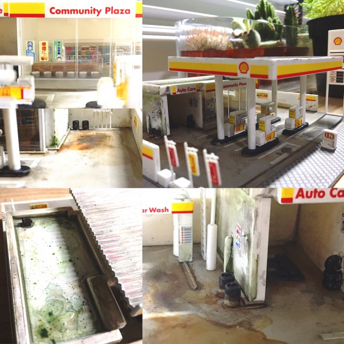 Shell Gas Station diorama