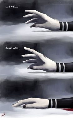 I….. I will….. save you…