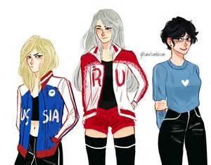 Genderbent Yurio, Victor and Yuri