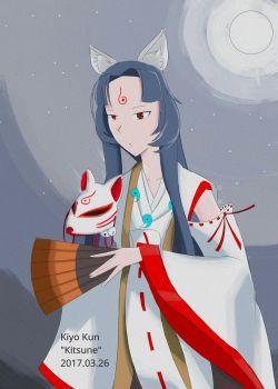 Kitsune by Kiyo Kun  kiyurin.deviantart.com