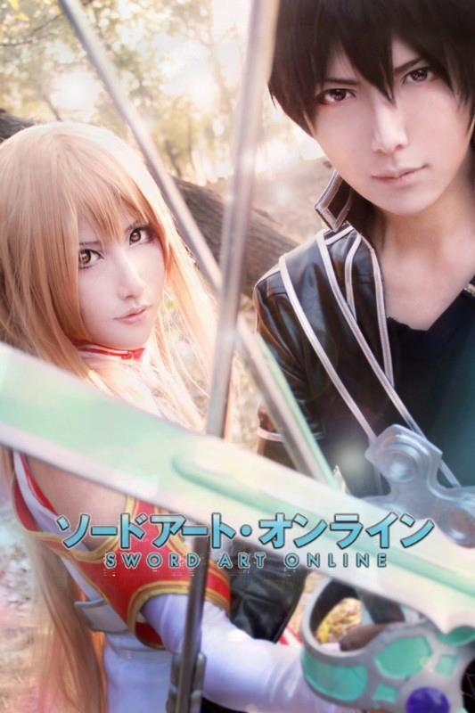 Asuna and Kirito cosplay