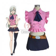 The Seven Deadly Sins Elizabeth Liones Crop Top Skrit Uniform Cosplay Costume