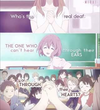 Who' the real deaf?