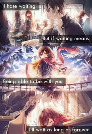 I'll be waiting…..
