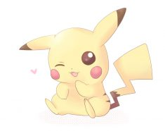 Pikachu is soo cute. He is mine.
