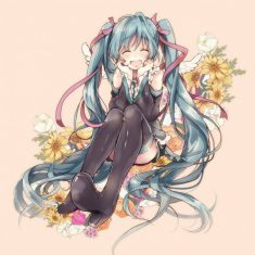 Aww how cute is Hatsune Miku