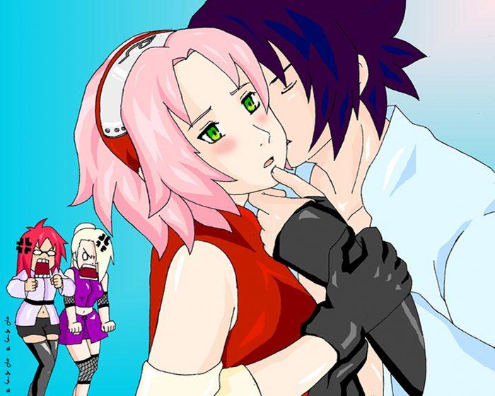 He Kiss Sakura Ayieee..
