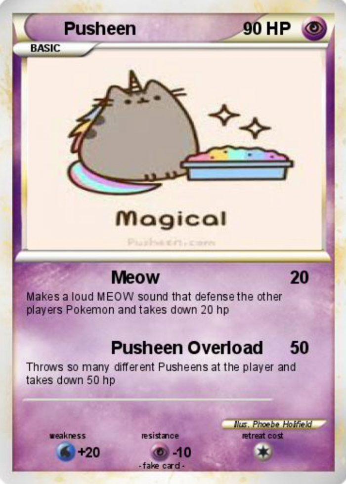 Magical pusheen pokemon