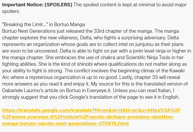 """Breaking the Limit.."" In Boruto Manga  Chapter 33 of Boruto: Naruto Next Generation ..."