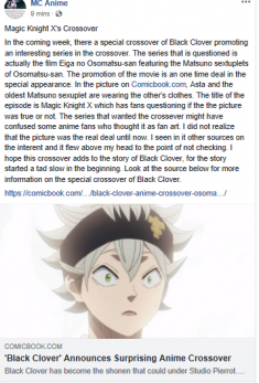 Black Clover and Eiga no Osomatsu-san Crossover   Debuts March 26, 2019