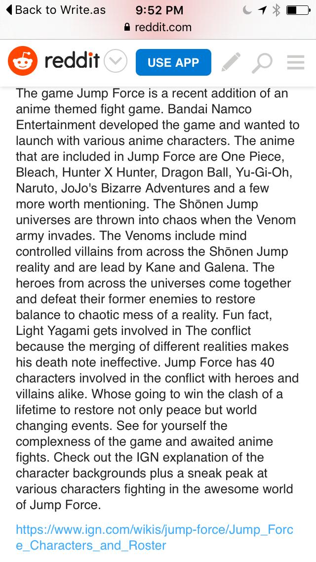 50 Years of Shouen Jump Celebration through Jump Force