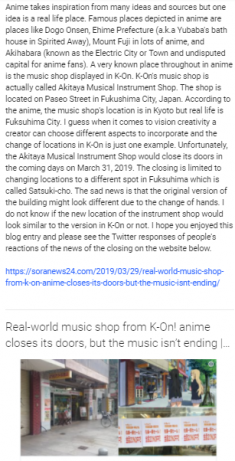 An Anime Location Changing Hands  Akitaya Musical Instrument Shop Depicted in K-On and changing  ...
