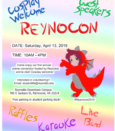 Reynolds Anime Club is Hosting A Convention, ReynoCon