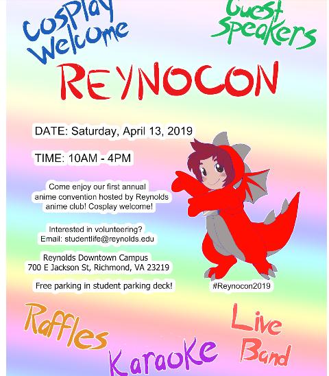 Reynolds Anime Club is Hosting A Convention, ReynoCon