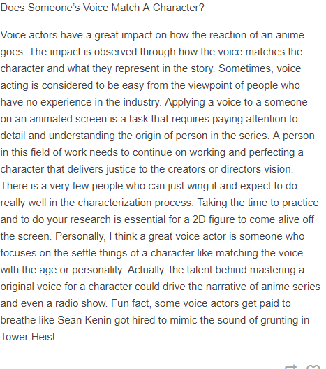 Voice Acting is Not a Piece of Cake