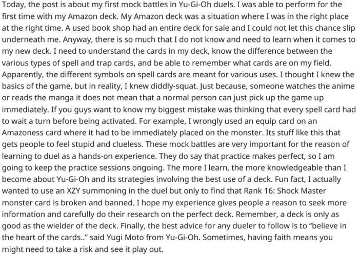 Yu-Gi-Oh For the First Time  Amazon Deck and First Day of Dueling in Yu-Gi-Oh