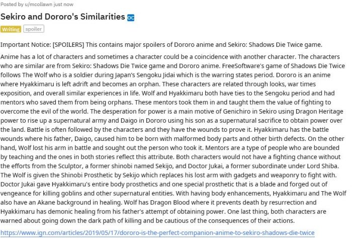 Sekiro and Dororo's Similarities  Will Harris and Dororo is the Perfect Companion Anime to ...