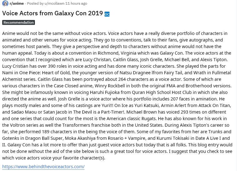 Voice Actors from Galaxy Con 2019  Animated Characters with voices behind them and done by real  ...