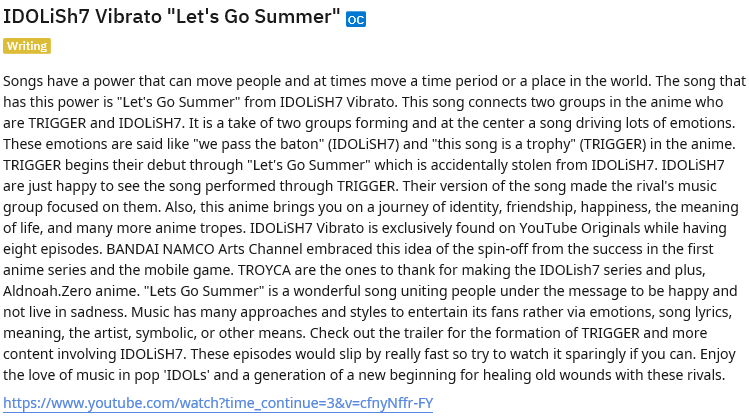 "IDOLiSH7 Vibrato ""Let's Go Summer""  Music Uniting Two Rival Groups Under One Song"