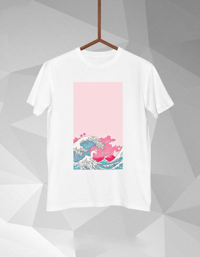 Pink Wave T-shirt for men